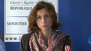 Lorient prosecutor Laureline Peyrefitte at a press conference to review the investigation into the case of Joel Le Scouarnec