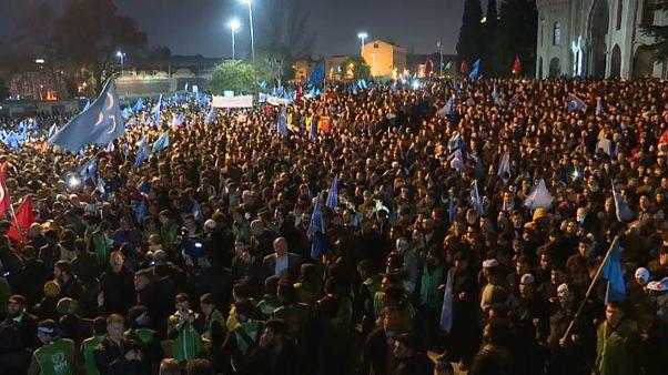 Proteste in Istanbul: Solidarität mit Uiguren