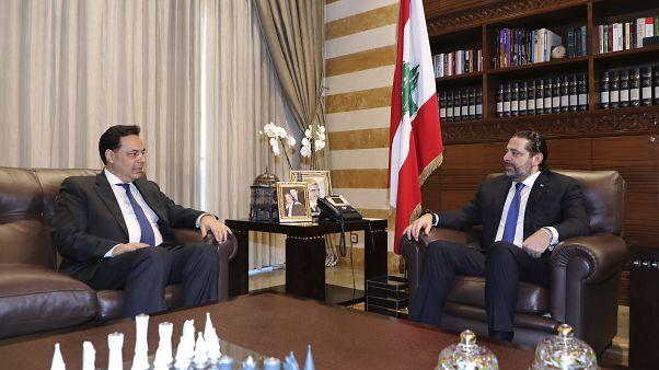 دياب المكلف تشكيل الحكومة المقبلة التقى برئيس الوزراء المنتهية ولايته سعد الحريري