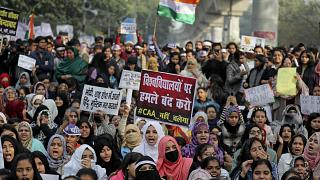 Indian protests continue to demonstrate against the new citizenship law