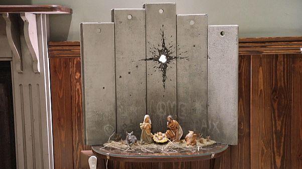 La cicatrice di Betlemme, l'ultima opera di Banksy