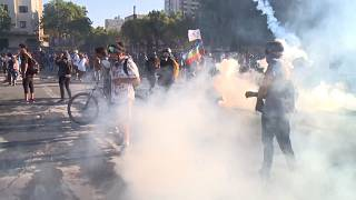 Protesters clash with Chile's police in Santiago