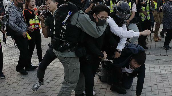 معترضان هنگکنگ در حمایت از اویغورهای چین تظاهرات کردند