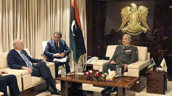 Αιφνιδιαστικά στη Λιβύη ο Νίκος Δένδιας - Συνάντηση με Χαφτάρ