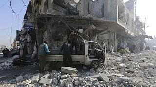 پیشروی نیروهای ارتش سوریه در استان ادلب با حمایت حملات هوایی روسیه