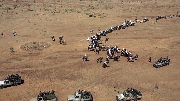 قوات حرس الحدود السودانية التشادية في غرب دارفور، السودان.