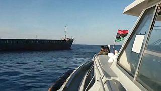نیروهای وفادار به خلیفه حفتر یک کشتی ترکیه را توقیف کردند