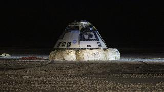 استارلاینر، محفظه فضایی بوئینگ پس از شکست در عملیات سالم به زمین بازگشت