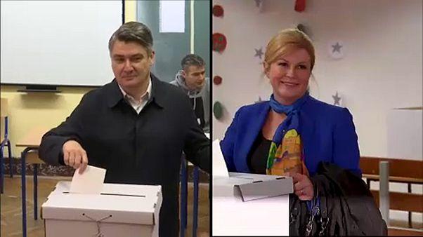 Horvát elnökválasztás, exitpoll: a jelenlegi államfő a második fordulóba jut