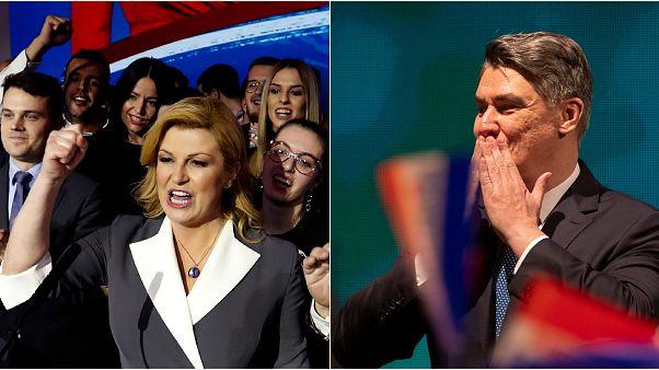 Hırvatistan'daki cumhurbaşkanlığı seçiminde ikinci tura Milanovic ile Kitarovic kaldı