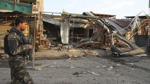 جندي أفغاني في العاصمة الأفغانية كابول
