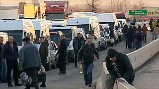 Torlódás a lengyel-ukrán határon