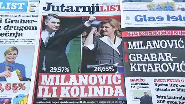 Vegyesen fogadták a horvát elnökválasztás eredményét