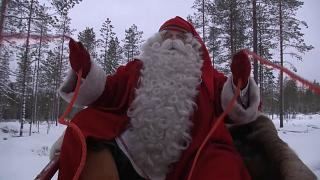 Santa Claus gets ready for his busiest time of year