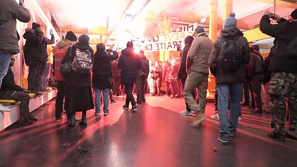 Protesting French workers invade Gare de Lyon station in Paris
