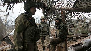 سربازان اوکراینی در  منطقه دونتسک