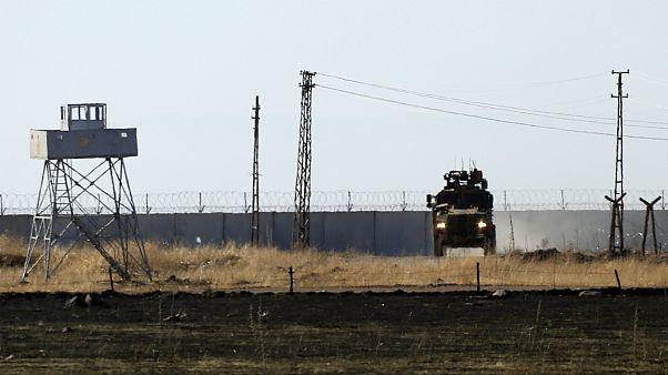 خودروی نظامی ارتش ترکیه در استان ادلب سوریه