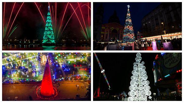 FOTÓK - A világ legkülönlegesebb karácsonyfái