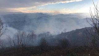 Trabzon'un 11 ilçesinde 37 noktada çıkan örtü yangınlarından 30'unun söndürüldüğü, üç ilçede 6 evin yangınlarda zarar gördüğünü bildirildi