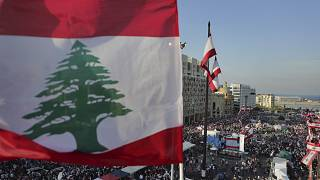 """من """"الاستعراض المدني"""" الذي أقامه المحتجون في بيروت في 22 تشرين الثاني/نوفمبر الماضي"""