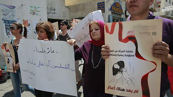 مظاهرة لوقف قتل النساء في بيت لحم- الضفة الغربية