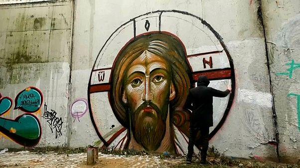 Jesus em grafíti