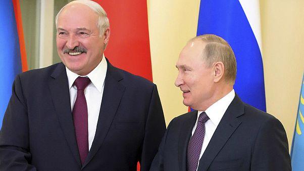 Belarus Devlet Başkanı Aleksander Lukaşenko ile Rusya Devlet Başkanı Vladimir Putin, Rusya'nın St. Petersburg kentinde bir araya geldi. 20 Aralık 2019