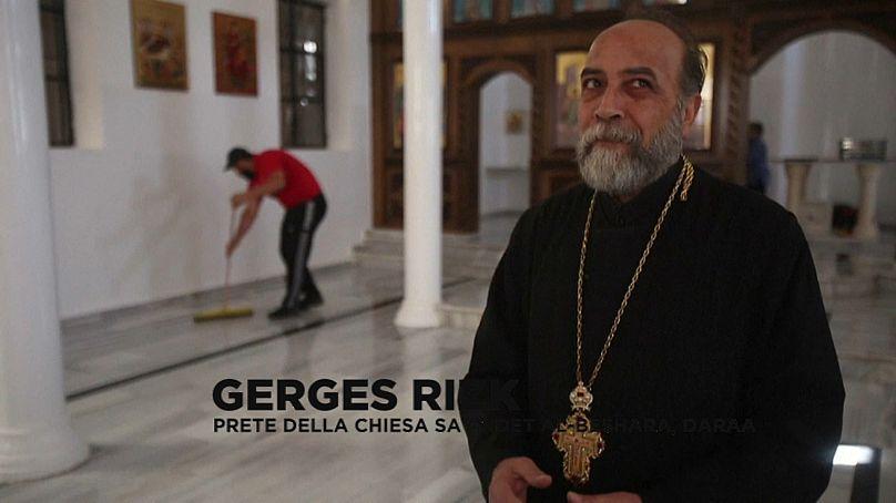 prete della chiesa di Daraa