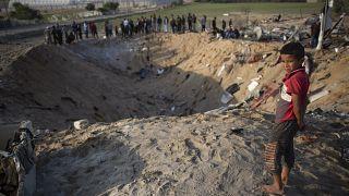 İsrail jetlerinin 14 Kasım'da Gazze'de bir eve yönelik düzenlediği hava saldırısında aynı aileden 9 sivil yaşamını yitirmişti
