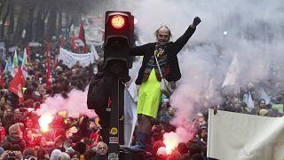 مظاهرة في وسط باريس