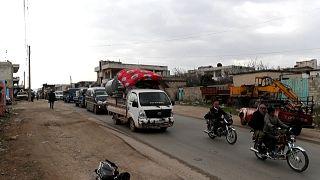 Syria's Maaret al-Numan becomes ghost town as residents flee Idlib bombing