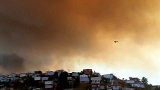 В Чили сгорели десятки домов