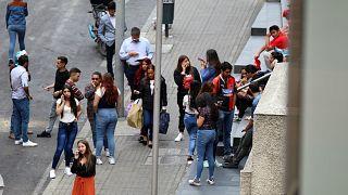 Kolombiya'da deprem sonrası panik anları