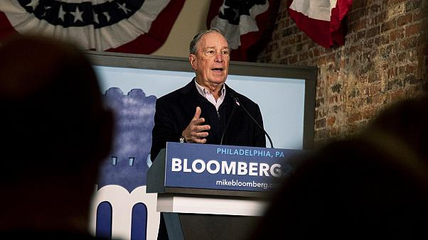 Mike Bloomberg, Democratic Candidate, speaks to volunteers and supporters in Old City