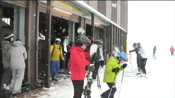 Tutti sulle piste da sci di Champoluc