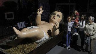 Μεξικό: To γιγάντιο άγαλμα του μωρού Ιησού