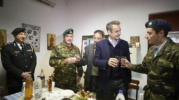 Ο Πρωθυπουργός Κυριάκος Μητσοτάκης επισκέφθηκε το φυλάκιο «Κασιωτών Αγωνιστών» της Κάσου