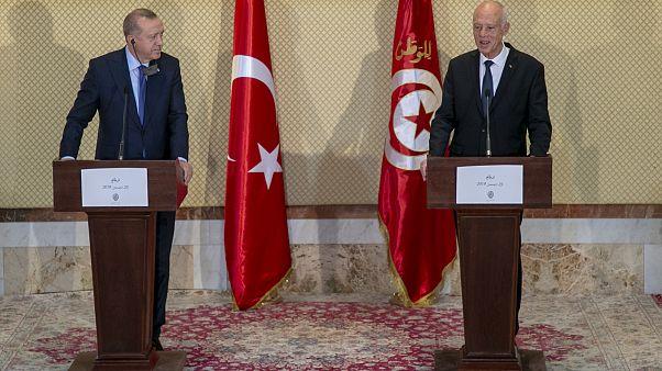 Türkiye Cumhurbaşkanı Recep Tayyip Erdoğan ile Tunus Cumhurbaşkanı Kays Said ortak basın toplantısı düzenledi