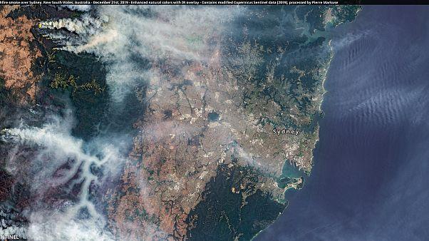 El humo de los incendios amenaza Sidney el pasado 21 de diciembre