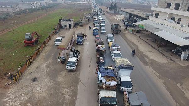 تقدر الأمم المتحدة عدد النازحين من محافظة إدلب في الأشهر الأخيرة بـ 60 ألف شخص