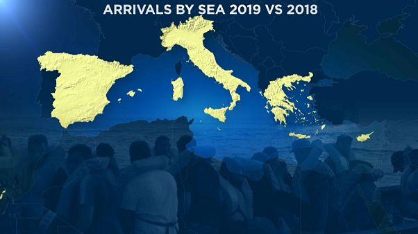 Weniger Migranten erreichen Europa