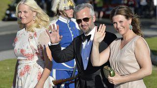 صورة للأمير آري بن رفقة زوجته الأميرة  مارتا لويس 2015