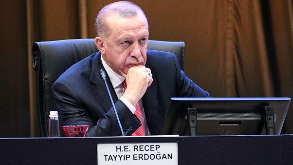 الرئيس التركي رجب طيب أردوغان في بالقمة الإسلامية المصغرة في كوالا لامبور بماليزيا. 19/12/2019