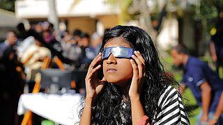 Skygazers enjoy rare 'ring of fire' solar eclipse
