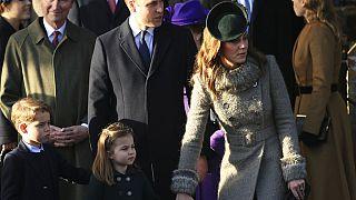 Katalin hercegné és Vilmos herceg gyermekeikkel