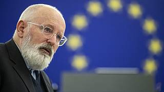 Frans Timmermans, first vice-President of the European Commission delivers his speech during the debate to prepare the EU summit, Tuesday Nov.26, 2019 in Strasbourg.