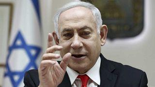 Benjamin Netanyahu lors d'une réunion de son cabinet le 15 décembre 2019