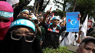 Az ujgurok mellett tüntettek Dzsakartában