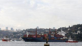 Τουρκία: Φορτηγό πλοίο προσέκρουσε στην ακτή του Βοσπόρου - ΒΙΝΤΕΟ