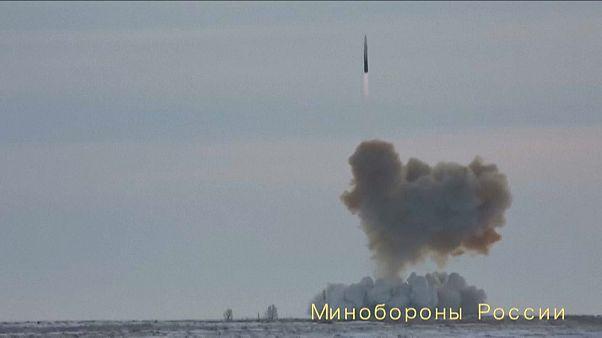 دخول الصاروخ الروسي أفانغارد الأسرع من الصوت الخدمة -موسكو -27 كانون الأول (ديسمبر) 2019 .